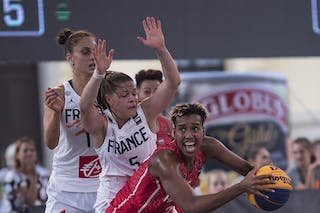11 Ana Maria Filip (FRA) - 5 Marie-eve Paget (FRA) - 22 Cyesha Goree (HUN)