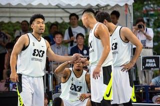 6 Ray Nixon (JPN) - 4 Maniwa Josei (JPN) - 5 Tomoya Ochiai (JPN) - 3 Koji Nagata (JPN) - Utsunomiya v Hamamatsu, 2016 WT Utsunomiya, Pool, 30 July 2016