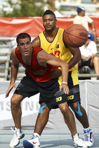 2012 FIBA 3x3 World Tour, Madrid MADRID, SPAIN - SEPTEMBER 07: 3X3 World Tour Madrid 2012 at Plaza de Toros de Las Ventas on September 07, 2012 in Madrdi, Spain. (Photo by Manuel Queimadelos)