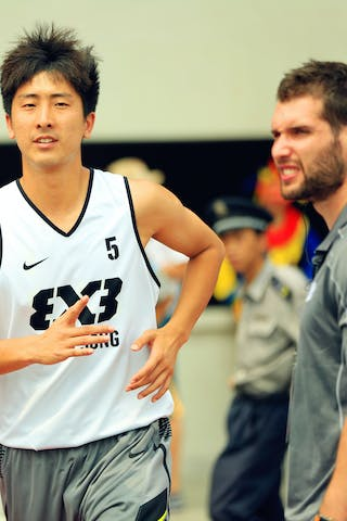 #5 Wang Cong, Team Wukesong, 2014 World Tour Beijing, 3x3game, 03 August, Day 2.