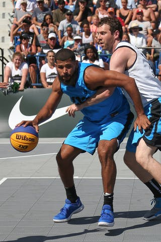 3 Steve Sir (CAN) - 5 Angel Matias (PUR) - Saskatoon vs Gurabo in the FIBA 3x3 World Tour Saskatoon 2017 semi final