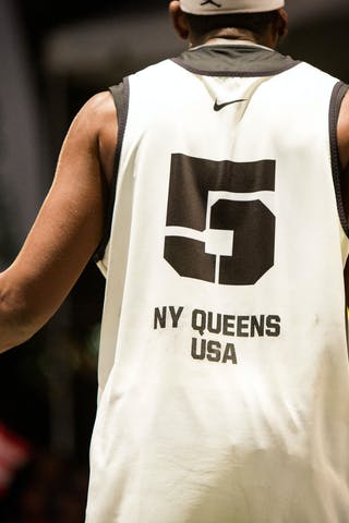 Player from the back at the San Juan Masters 10-11 August 2013 FIBA 3x3 World Tour, San Juan, Puerto Rico