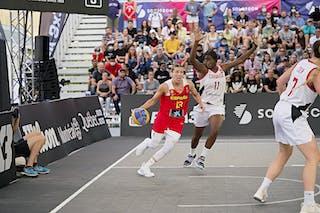 13 Sandra Ygueravide (ESP) - FIBA 3x3, World Tour 2021, Mtl, Can, Esplanade Place des Arts. WS Semi-Final 2- CANADA vs. Spain
