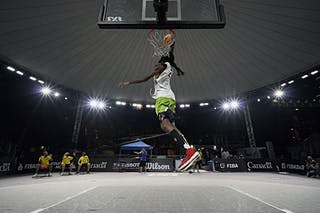 FIBA 3x3, World Tour 2021, Mtl, Can, Esplanade Place des Arts. Dunk contest
