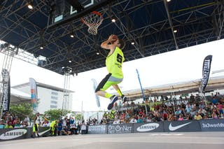 Dunk contestat the San Juan Masters 10-11 August 2013 FIBA 3x3 World Tour, San Juan, Puerto Rico. Day 2