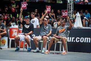Referees, dunk contest, FIBA 3x3 World Tour Rio de Janeiro 2014, Day 2, 28. September.