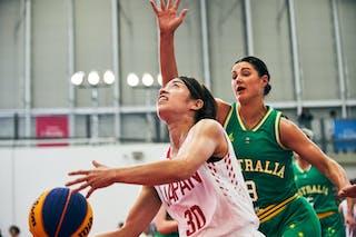 8 Alice Kunek (AUS) - 30 Mio Shinozaki (JPN) - Game1_Pool B_Japan vs Australia