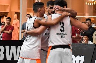 1 Luiz Felipe Soriani (BRA) - 4 Jefferson Froehlich Socas (BRA) - 5 André Ferros (BRA) - 3 Leonardo Branquinho (BRA)