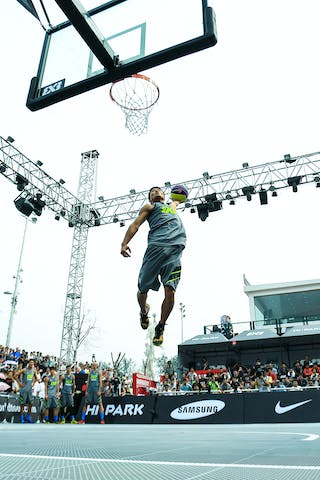 Dunk contest, player dunking, 2014 World Tour Beijing, 3x3game, 2-3 August.