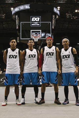 Team Jakarta, team photo, FIBA 3x3 World Tour Final Tokyo 2014, 11-12 October.