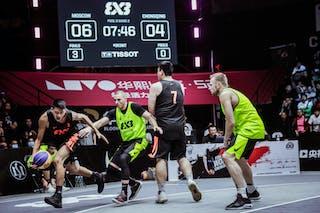 7 Anton Indrikov (RUS) - 4 Nikita Makshev (RUS) - 3 Liu Hang (CHN) - 7 Guangwen Jiang (CHN)