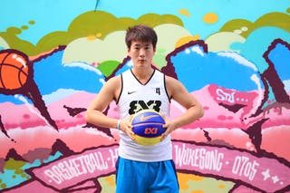 #4 Jialin Liu, Team Beijing BSU, FIBA 3x3 World Tour Beijing 2014, 2-3 August.