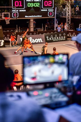 5 Strahinja Mladenovic (SLO) - 6 Nikola Vujovic (SLO) - 6 Nolan Brudehl (CAN) - 3 Michael Linklater (CAN) - Saskatoon v Maribor, 2016 WT Lausanne, Pool, 26 August 2016