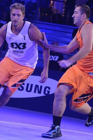 #7 Bardet Olivier, Team Menton, FIBA 3x3 World Tour Lausanne 2014, Day 1, 29. August.