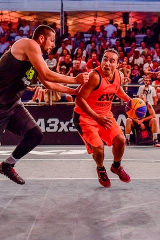 3 Michael Linklater (CAN) - 6 Nikola Vujovic (SLO) - Saskatoon v Maribor, 2016 WT Lausanne, Pool, 26 August 2016