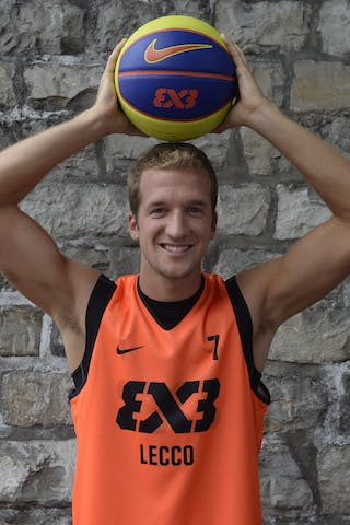 #7 Meroni Leonardo ,Team Lecco, FIBA 3x3 World Tour Lausanne 2014, 29-30 August.