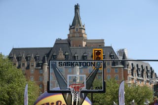 Images outside of game play during the FIBA 3x3 World Tour Saskatoon 2017.