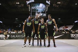Team Sao Paulo, team photo, FIBA 3x3 World Tour Final Tokyo 2014, 11-12 October.