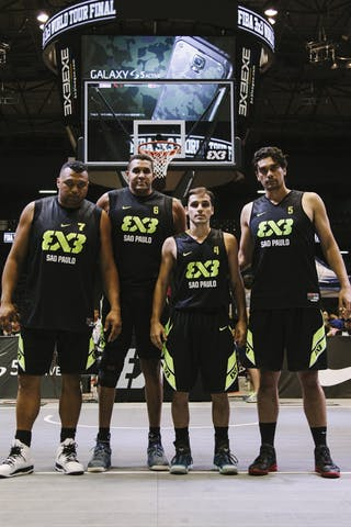 Team Sao Paulo, team photo, FIBA 3x3 World Tour Final Tokyo 2014, 11-12 October.