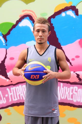 #4 Takeshi Nomoto, Team Nagoya, FIBA 3x3 World Tour Beijing 2014, 2-3 August.