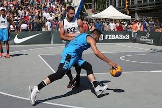 Ljubljana vs Hamilton in the FIBA 3x3 World Tour Saskatoon 2017 semi final