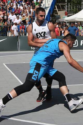 Ljubljana vs Hamilton in the FIBA 3x3 World Tour Saskatoon 2017 semi final