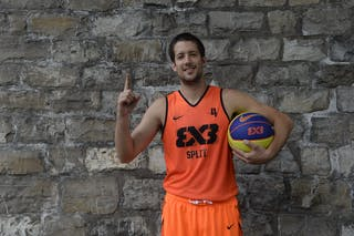 #4 Mindoljevic Toni, Team Split, FIBA 3x3 World Tour Lausanne 2014, 29-30 August.