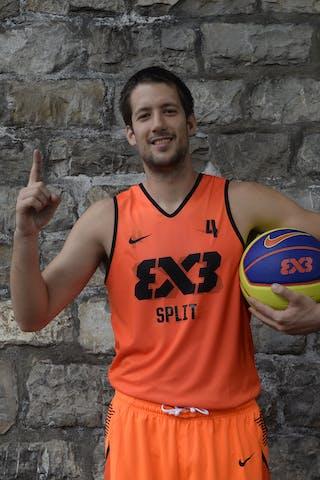 #4 Mindoljevic Toni, Team Split, FIBA 3x3 World Tour Lausanne 2014, 29-30 August.