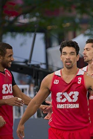 FIBA 3x3, World Tour 2021, Montréal, Canada, Esplanade de la Place des Arts. MEN Amsterdam Talent&Pr
