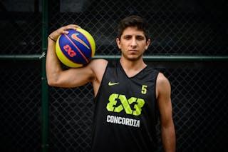 #5 Acosta Fernando, Team Concordia, headshot, FIBA 3x3 World Tour Rio de Janeiro 2014, 27-28 September.