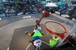 Robin Ryder aka 'Ro Ryder at the San Juan Masters 10-11 August 2013 FIBA 3x3 World Tour, San Juan, Puerto Rico. Day 2