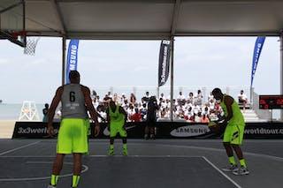 #7 Marcus King-Stockton, Team Denver, 2014 World Tour Chicago, 3x3 Game, 16 August, Day 2.