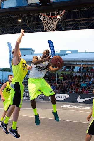 Saskatoon vs NY Staten final game at the San Juan Masters 10-11 August 2013 FIBA 3x3 World Tour, San Juan, Puerto Rico. Day 2