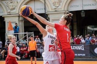 1 Michelle Plouffe (CAN) - 6 Caroline Hériaud (FRA)