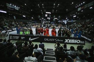 All teams, court view, FIBA 3x3 World Tour Final Tokyo 2014, 11-12 October.