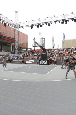 Court view, 2014 World Tour Beijing, 3x3game, 2-3 August.