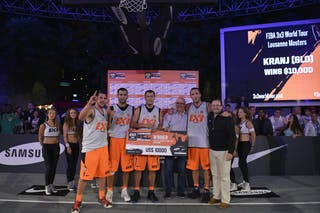 Team Kranj - winners of the 2013 FIBA 3x3 World Tour Lausanne Masters