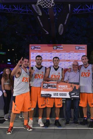 Team Kranj - winners of the 2013 FIBA 3x3 World Tour Lausanne Masters
