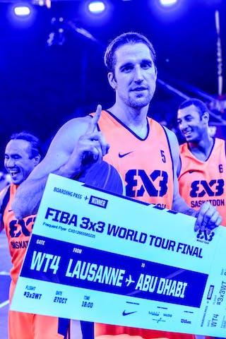 3 Michael Linklater (CAN) - 6 Nolan Brudehl (CAN) - 5 Michael Lieffers (CAN) - Liman v Paris, 2016 WT Lausanne, Semi final, 27 August 2016
