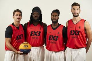 4 Florian Fortas (FRA) - 6 Lucas Dussoulier (FRA) - 5 Dominique Gentil (FRA) - 3 Charly Pontens (FRA)
