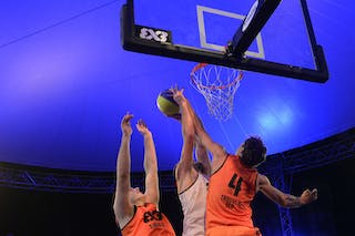 #4 Finzgar Simon blocks the player, FIBA 3x3 World Tour Lausanne 2014, Day 2, 30. August.