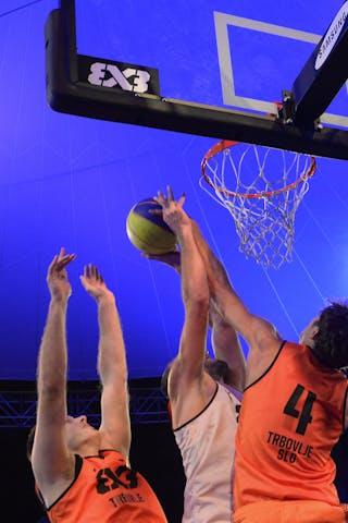 #4 Finzgar Simon blocks the player, FIBA 3x3 World Tour Lausanne 2014, Day 2, 30. August.