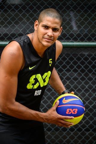 #5 Santos Cardoso Assis, Team Rio, FIBA 3x3 World Tour Rio de Janeiro 2014, 27-28 September.