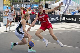 FIBA 3x3, World Tour 2021, Mtl, Can, Esplanade de la Place des Arts. WS QF 3- Germany vs. Canada