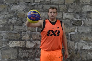 #7 Steuber Nils, Team Marburg, FIBA 3x3 World Tour Lausanne 2014, 29-30 August.