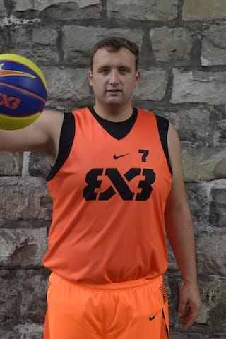 #7 Steuber Nils, Team Marburg, FIBA 3x3 World Tour Lausanne 2014, 29-30 August.