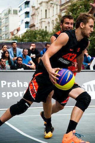 #5 Szymon Rduch. Team Kolobrzeg. 2014 World Tour Prague. 3x3 Game. 24 August. Day 2.