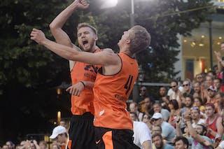 4 Kamil Rduch (POL) - 5 Szymon Rduch (POL) - Kolobrzeg v Paris, 2015 WT Prague, Semi final, 9 August 2015