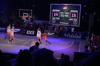 Court view, game Amsterdam - Monastir, FIBA 3x3 World Tour Lausanne 2014, Day 1, 29. August.
