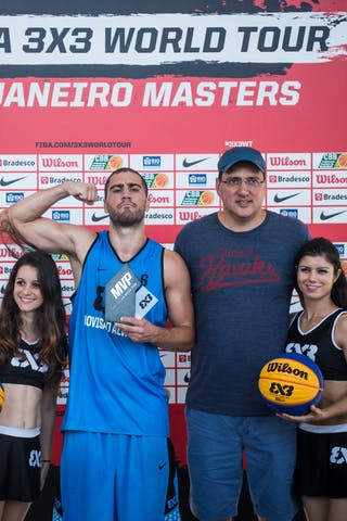Team Novi Sad Al Wahda star Dusan Domovic Bulut was named MVP of the 2015 FIBA 3x3 World Tour Rio de Janeiro Masters after leading his team to victor and topping all scorers.